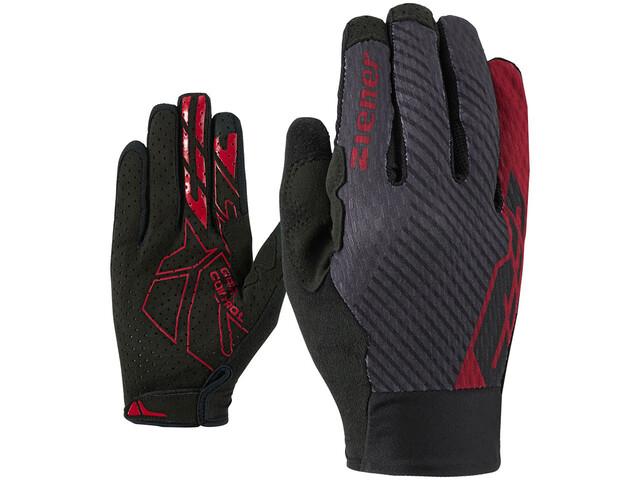 Ziener Curtiz Touch Long Gloves Men red pop